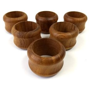Other - Wooden Napkin Rings Set
